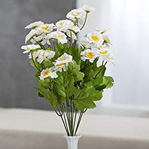 Factory Direct Craft White Artificial Zinnia Bush 48