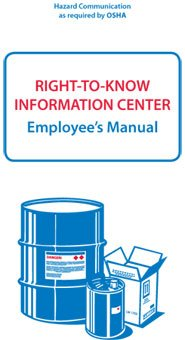 National Marker RTK32 Hazcom/Ghs/Rtk Booklets/Manuals with Card Insert, English (Pack of 10)