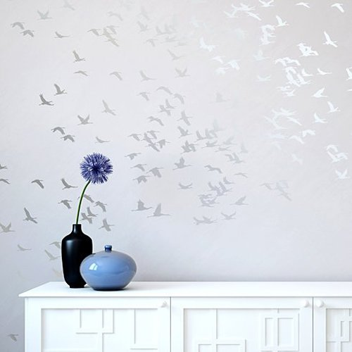 Prettiest Butterfly Ever (Flock of Cranes Stencil - Wall Stencils for DIY)