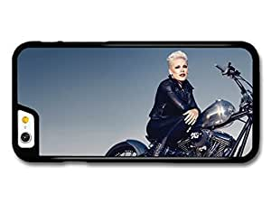 P!nk Sitting Motorbike Popstar Singer Pink case for iPhone 5 5s A10260