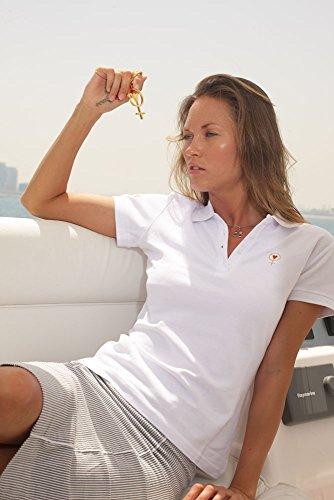 Coeur De Femme Women's Cotton Polo Shirt White X-Large