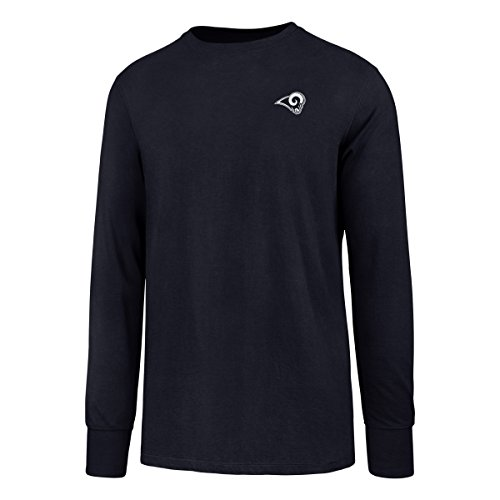 NFL Los Angeles Rams Men's OTS Rival Long Sleeve LCCB Tee, Light Navy, (Rams Football T-shirt)