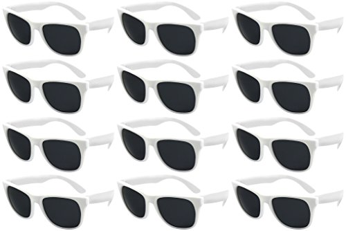 Edge I-Wear 12 Bulk 80s Party Sunglasses Neon Sunglasses for Adult Party Favors Wedding -