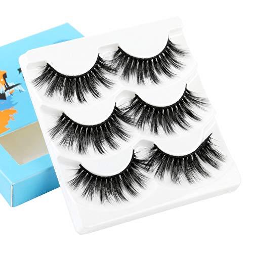 ALICE False Eyelashes 3D Faux Mink Volume Lashes 3 Pairs - Full Faux Eyelashes