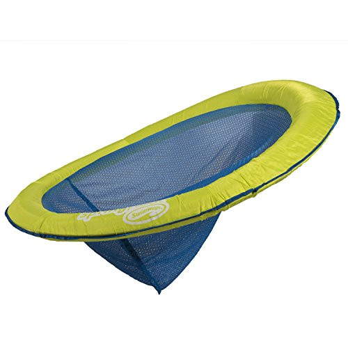 41UdQhgF8EL - Swimways Spring Float Papasan Pool Chair, Lime / Dark Blue