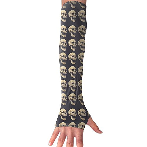 Diy Zombie Makeup Tutorial (Grunge Skull Cooling Arm Sleeves Unisex Sun Block UV Protection International Fashion)