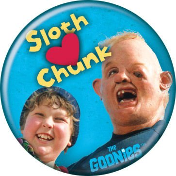 The Goonies - Sloth Heart Chunk Photo - Pinback Button 1.25