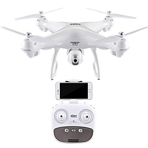 Inverlee S70W 2.4GHz GPS FPV Drone Quadcopter with 1080P HD Camera Wifi Headless Mode (White) by Inverlee