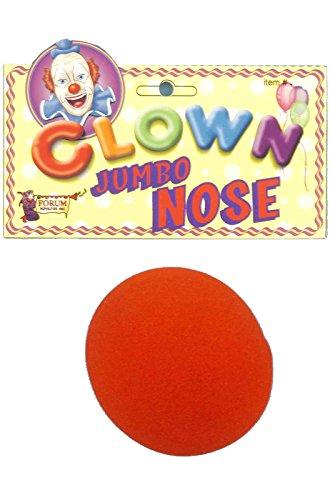 [Nose - Clown Regular Red Foam Accessory] (Holloween Spirits Costumes)