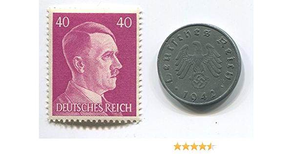 5 2 Swastika- N16 Set of Germany 8 coins 10 pfennig 1 2 Reichsmark