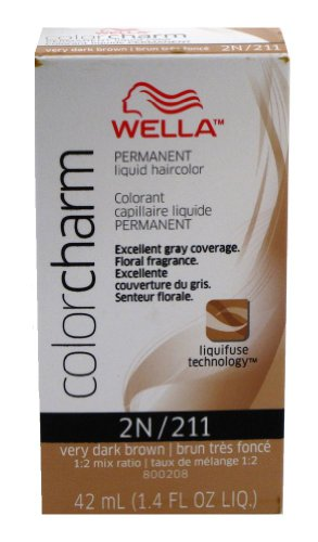 WELLA Color Charm Liquid Crème Hair Color Very Dark Brown 211 1.4oz/42ml