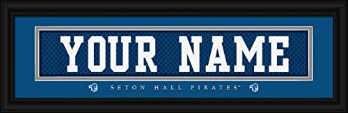 Seton Hall Pirates - Personalized Jersey Nameplate - Framed Poster Print