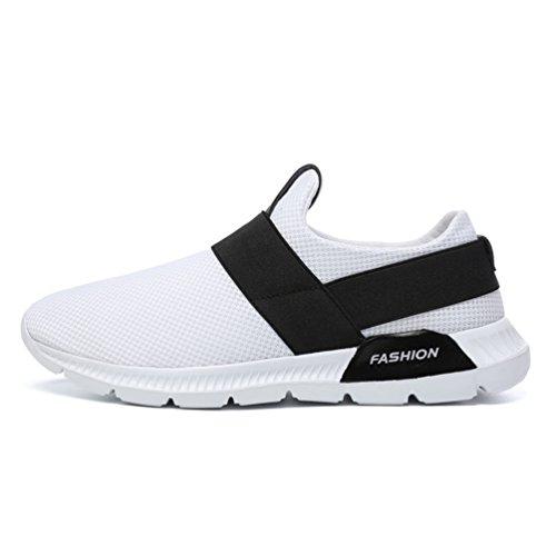 Sans Sneakers Jogging Basse Blanc Course 39 Loisir Running Chaussure Confortable Basket 46 Homme Sport Légère Lacet De ERwUq