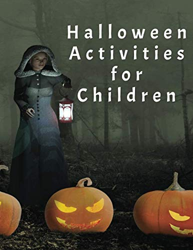 Halloween Activities for Children: Handwriting Practice, Colouring and Drawing]()