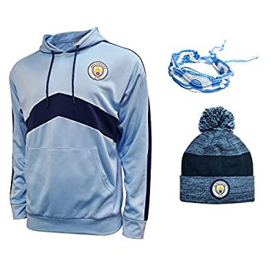 Manchester City Hoodie and Beanie for Mens Adults Winter Sweatshirts Pullover New Season Official Licensed Set mc0010