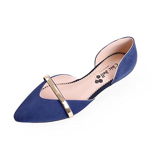 tacón de C señaló Asakuchi bajo mujer Zapatos de cuñas de Zapatos zapatos primavera de 1OqgX