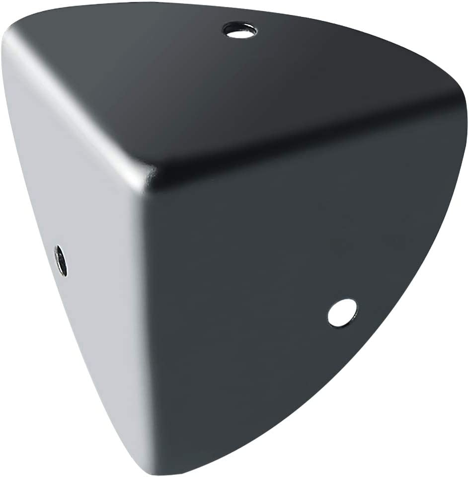 Metal mate acabado negro EBJ039B-4P Tratamiento anticorrosi/ón Sayayo Corner Angle Protectores de cors/é para caja de ba/úl de caja de ba/úl de madera