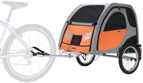 PETEGO Comfort Wagon Dog Bike Trailer WITH SUSPENSIONS- L...