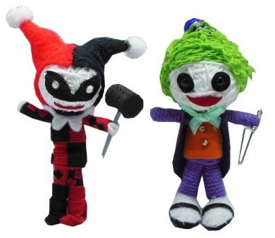 String Doll World - Harley Quinn & The Joker - String Doll Keychain -