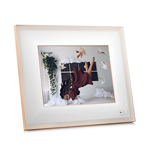 "AURA Frames - Oprah's Favorite Things List 2016 - Digital Photo Frame, Add Photos from iPhone & Android App, 9.7"" HD Display, Unlimited Storage, Motion and Light Sensor, Wi-Fi, Facial Recognition from Aura"
