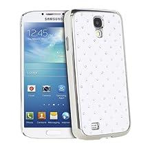 Fosmon GLITTER Diamond Design Series Bling Hard Case for Samsung Galaxy S4 IV / i9500 - Fosmon Retail Packaging (White)