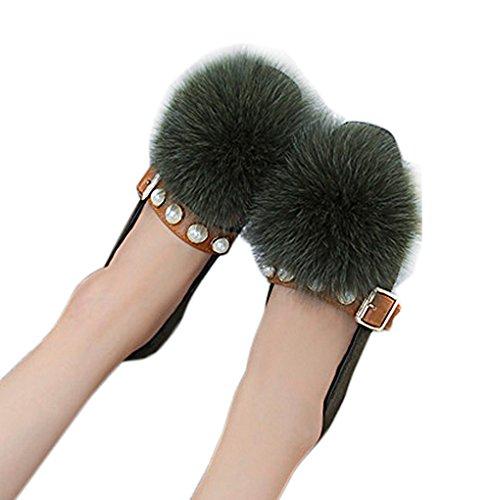 [もうほうきょう] シューズ 女性用 スリッポン 秋の新型 平底 キツネモーモ 淺口レジャー単靴 快適 トットちゃん靴