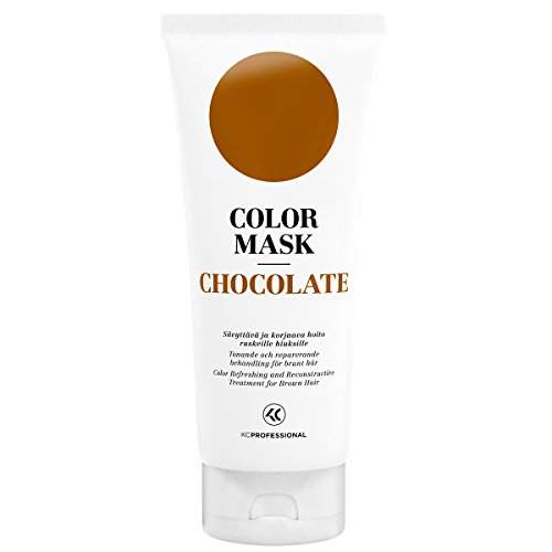 KC Professional Chocolate Color Mask Reconstructive Treatment - Toning Conditioner for Brown Hair - 6.76 - Refresher Color