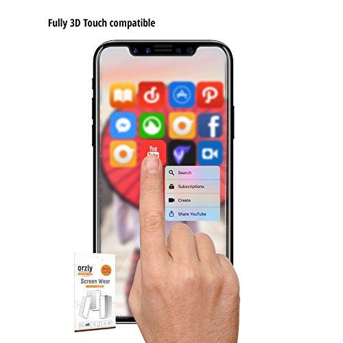 Protectores de Pantalla para el iPhone X, Multi-Pack de CINCO Protectores de Pantalla de Orzly [Compatible con cualquier Funda] para el iPhone X/ iPhone 10 [Protección Anti-Arañazos] TRANSPARENTE para iPhone X