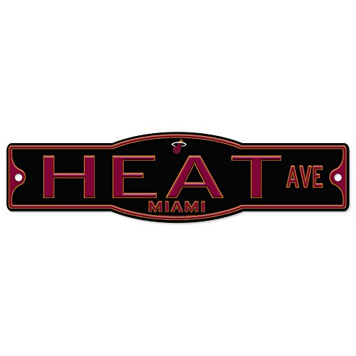 fan products of Miami Heat Basketball Plastic 4 x 17 Street Sign