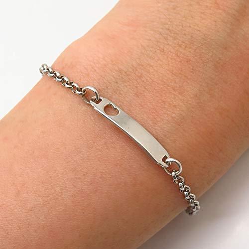 Heart ID Rolo Link Bracelet...