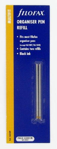 Filofax Mini Pen Refill (Pack of 2) - Black