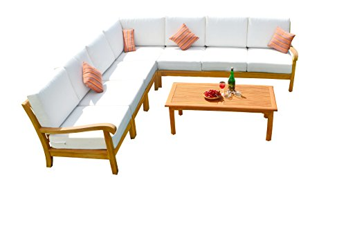 8-PC-A-Grade-Outdoor-Patio-Teak-Sofa-Set-1-Right-1-Left-4-Armless-Chairs-1-Corner-1-Rectangle-Coffee-Table-Furniture-Only-Naples-Collection