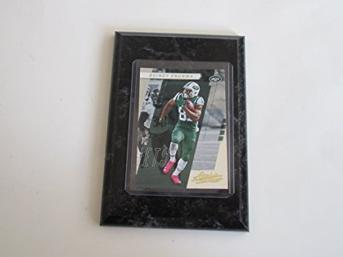 Absolute Black Marble - QUINCY ENUNWA NEY YORK JETS ABSOLUTE 2017 FOOTBALL PLAYER CARD MOUNTED ON A