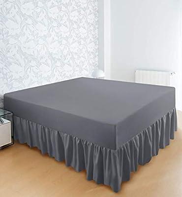 Utopia Bedding Falda De Cama con Volantes - Cama 90 - Extra ...