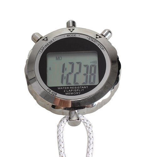 Vktech Chronograph Metal Digital Timer Stopwatch Sports Counter Stopwatch ()