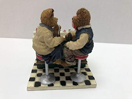 Boyd's Bears Coca Cola Kaylie & Conner It's The Real Thing Soda Fountain Figurine Coca Cola Boyds Bears