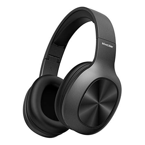 - Mixcder HD901 Lightweight Wireless Headphones, Hi-Fi Stereo Bluetooth Headphones Over Ear with Microphone, Comfortable Wireless Headset with Soft Protein Earmuffs, TF Card/Wired Mode for TV PC Travel