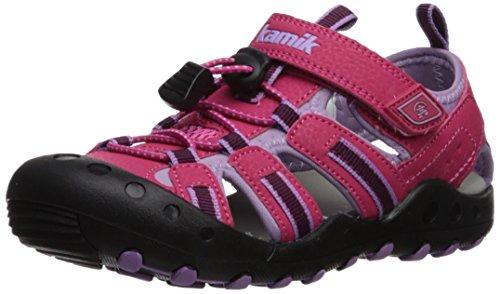 Kamik Girls' Crab Sandal, Bright Rose, 5 M US Big Kid