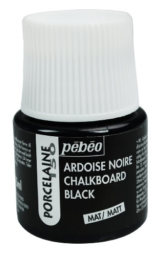 Pebeo Porcelaine 150, Chalkboard China Paint, 45 ml Bottle - Chalkboard Black