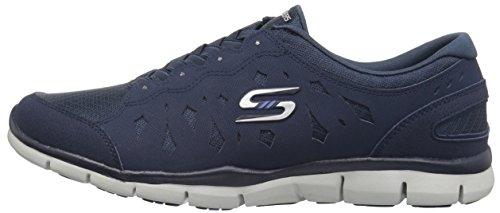 para Gratis 38 Light EU Skechers Zapatillas sin Navy Cordones Azul Heart Mujer YAndvfq