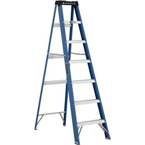 Pinch Resistant Spreader Brace Fiberglass Ladder by Louisville Ladder