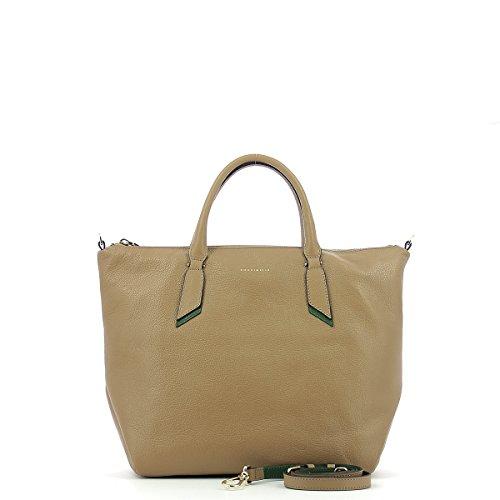 Handbag in leather