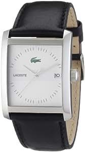 Lacoste 2010519 - Reloj analógico de caballero de cuarzo con correa de piel negra