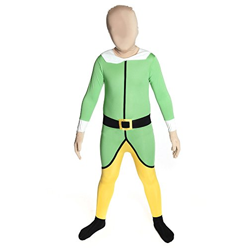Kids Elf Morphsuits Childs Fancy Dress Costume Medium 3