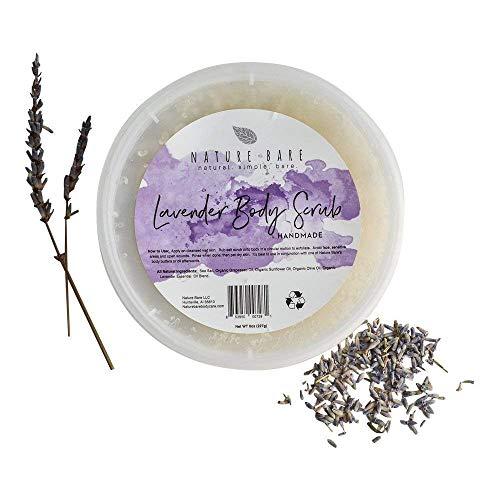 Lavender Body Scrub, Salt Scrub, Natural Body Scrub, Vegan Body Scrub, 8oz