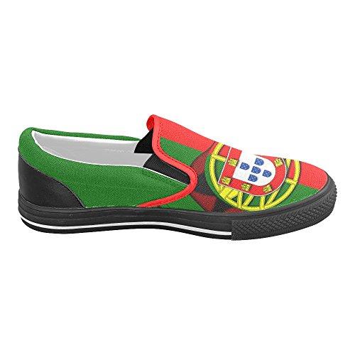 Interessante Classico La Bandiera Del Portogallo Uomo Slip-on Scarpe Di Tela