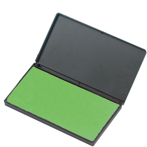 Charles Leonard Foam Stamp Pad, Small, 2.75 x 4.25 Inches, Green (92225)