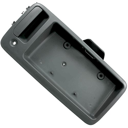 APDTY 112823 Exterior Rear Cargo Door Handle w/ License Plate Bracket Holder Fits 1996-2010 Chevy Express 1500 2500 3500 Van 1996-2010 GMC Savana 1500 2500 3500 Van (Replaces GM ()