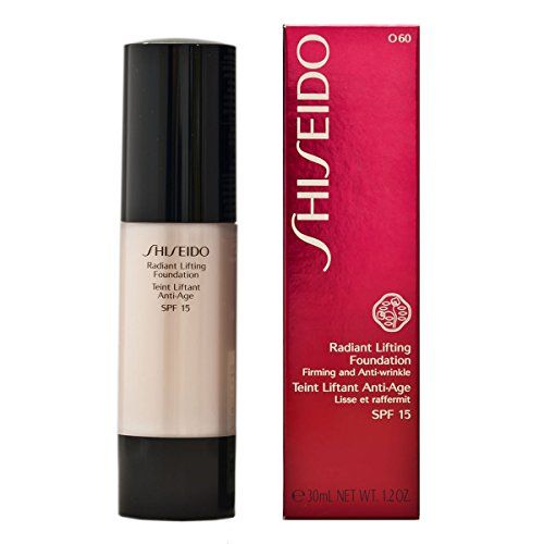 Shiseido 1Oz O60 Natural Deep Ochre Radiant Firming Anti-Wrinkle Foundation