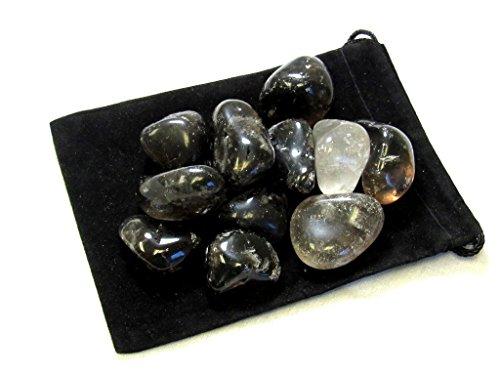 Zentron Crystal Collection: 1/2 Pound Tumbled Smoky Quartz (Smokey Quartz Crystal)
